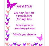 Presentkort 500 kr från trend4you.se